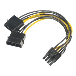 4pin Molex to 6+2pin PCIe adapter
