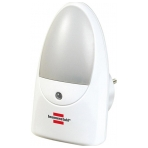 Brennenstuhl LED-nattlampa med skymningssensor, 0,85W, 1lm, vit