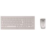 CHERRY trådlöst tangentbord och mus, DW8000, USB, Nordisk, vit/grå