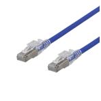 DELTACO S/FTP Cat6A patchkabel, 0,25m, 500MHz, låsbara kontakter, blå