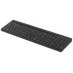 DELTACO trådlöst tangentbord, nordisk layout, USB, 10m, svart