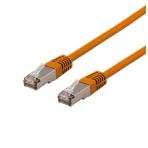 DELTACO U/FTP Cat6a patchkabel, delta cert, LSZH, 2m, orange