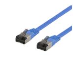 DELTACO U/FTP Cat6a patchkabel, flat, 1,9mm tjock, 1,5m, blå