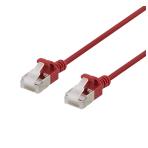 DELTACO U/FTP Cat6a patchkabel, slim, 3,8mm i diameter, 0,3m, röd