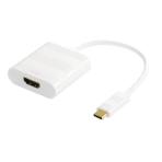 DELTACO USB-C till HDMI adapter, Typ C ha - HDMI ho, 4K, UHD, vit