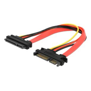 DeLOCK 22-pin SATA-kabel, 0,20m, hane - hona