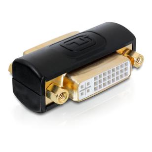 DeLOCK DVI-adapter Dual Link, DVI-I ho-ho, 24+5, svart