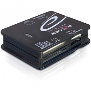DeLOCK memory card reader, USB, microSD / SDHC / SDXC, CF, xD, SM, MMC