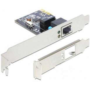 DeLOCK nätverkskort, PCI-Express x1, GBLAN, 1x RJ45