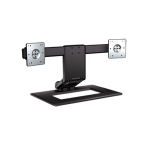 "HP Dual-Monitor Justerbart stativ, upp till 24"", lutbar, roterbar, sva"