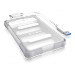 """ICYBOX External Waterproof Case for 2.5 """"SATA HDD / SSD, Transparent"""