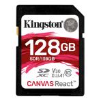 Kingston 128GB SDXC Canvas React 100R / 80W CL10 UHS-I U3 V30 A1