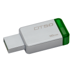 Kingston 16GB USB 3.0 DataTraveler 50, silver / green