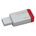 Kingston 32GB USB 3.0 DataTraveler 50, silver / red