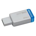 Kingston 64GB USB 3.0 DataTraveler 50, silver / blue