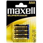 Maxell AAA LR03 Super alkaline batteries 4-pack
