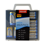 Maxell Alkaline Batteries Multi-Pack, AA / AAA / C / D / 9V, protective box, s