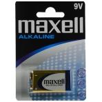 Maxell Battery, 9V / 6LR61, Alkaline, 1-Pack