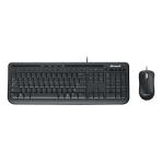 Microsoft Wired Desktop 600, tangentbord m mus, nordisk, USB, svart