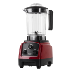 NORDIC HOME CULTURE power blender, 1000W, upp till 25000 rpm, röd