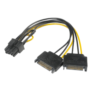 SATA power to 6+2pin PCIe