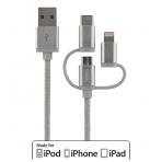 Streetz 3 i1 USB -synk/laddarkabel, univ