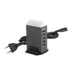 Technaxx Skrivbordsladdare USB Hub, 5-portar, LED-skrivbordslampa, 8A,