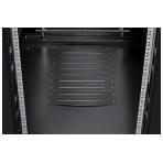 """TOTEN System A 19"""" golvskåp, 27U, 600x600, glasdörr fram, metall bak"""