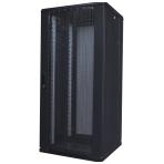 """TOTEN System A 19"""" golvskåp, 27U, 600x600, perforerad fram- & bakdörr"""