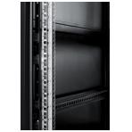"""TOTEN System A 19"""" golvskåp, 42U, 600x1200, glasdörr fram, metall bak"""