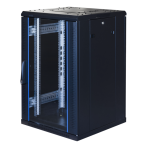 """TOTEN System G, 19"""" golvskåp, 18U, 600x600, glasdörr fram, metalldörr"""