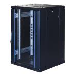 """TOTEN System G, 19"""" golvskåp, 18U, 600x600, glasdörr fram, perforerad"""