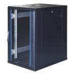 """TOTEN System G, 19"""" golvskåp, 18U, 600x800, glasdörr fram, metalldörr"""