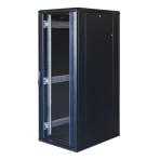 """TOTEN System G, 19"""" golvskåp, 32U, 600x800, glasdörr fram, perforerad"""