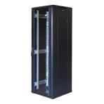 """TOTEN System G, 19"""" golvskåp, 37U, 600x600, glasdörr fram, perforerad"""