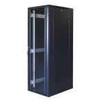 """TOTEN System G, 19"""" golvskåp, 37U, 600x800, glasdörr fram, metalldörr"""