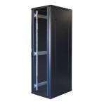"""TOTEN System G, 19"""" golvskåp, 42U, 600x800, glasdörr fram, metalldörr"""